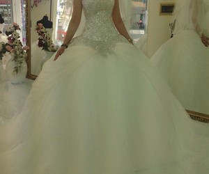 mariage, robe, and dresse image