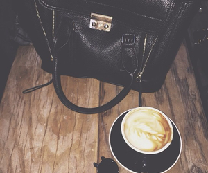 bag, black, and cafe image