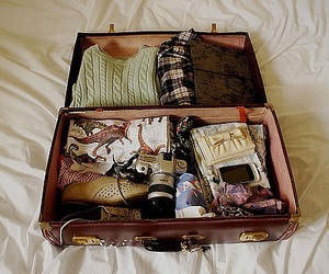 stuff and suitcase image