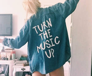 music, girl, and style image