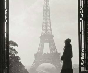 paris, vintage, and eiffel tower image