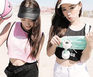 model, jung min hee, and park sora image