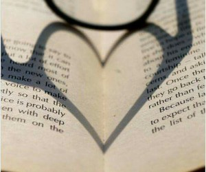 book, glasses, and heart image