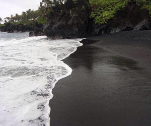 beach, perfect, and black sand image