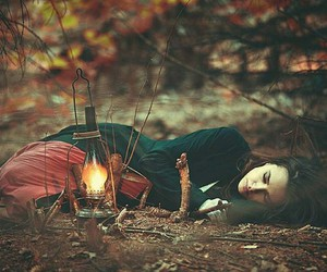 fire, grunge, and woods image