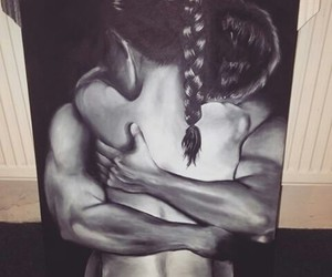 art, artist, and couple image