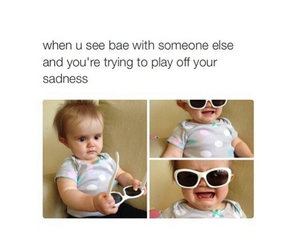 funny, baby, and bae image