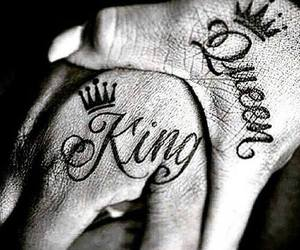 Queen, king, and tattoo image