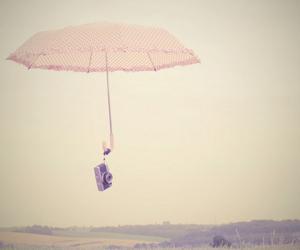 umbrella, camera, and pink image