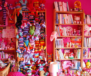 pink, cute, and books image