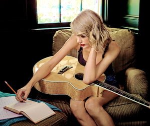 Taylor Swift, 1989, and guitar image