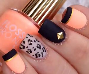 design, orange, and nails design image