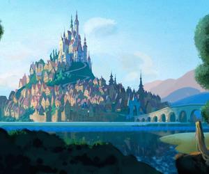 tangled, rapunzel, and castle image