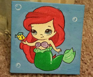 ariel, art, and disney image