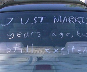 love, married, and car image