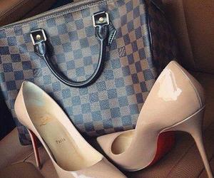 bag, girlie, and high heels image