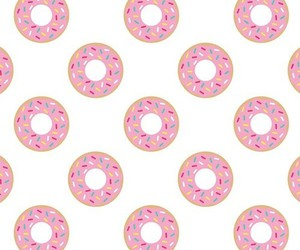donuts, pink, and wallpapers image