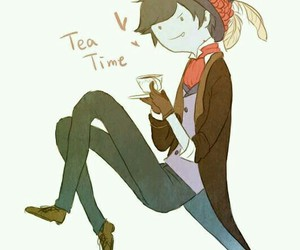 adventure time, marshall lee, and tea time image
