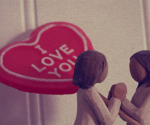 doll, I Love You, and red image