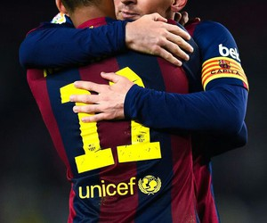 neymar, messi, and fc barcelona image