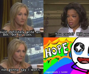 harry potter, hope, and jk rowling image