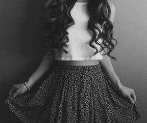 hair, vintage, and white and black image
