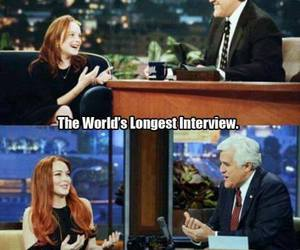 interview, lindsay lohan, and funny image