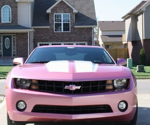 pink, car, and chevrolet image