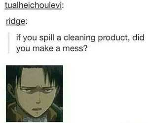 levi, attack on titan, and funny image