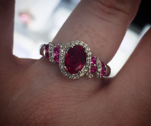 promise ring, ruby ring, and unique ring image