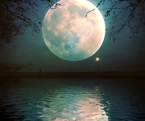 moon, night, and beautiful image