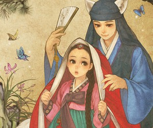 korean and little red riding hood image