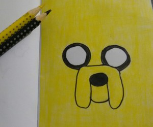 draw, JAKe, and adventure time image