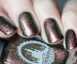 fashion, manicure, and glitter image