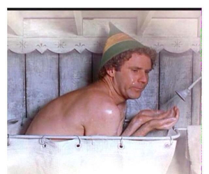elf, funny, and shower image