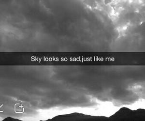 sad, sky, and grunge image