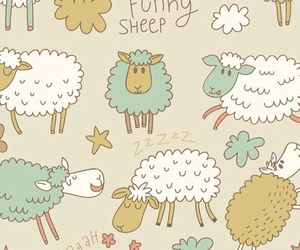 wallpaper, sheep, and background image