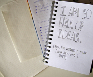 ideas and notebook image