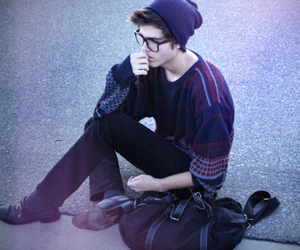 boy, hipster, and glasses image