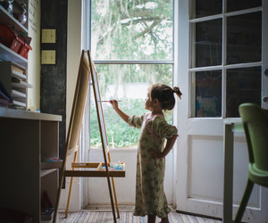 kid, painting, and cute image