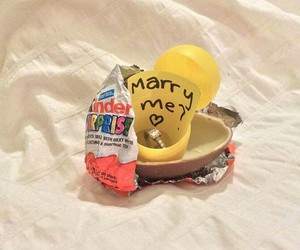 love, kinder, and ring image