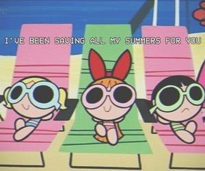 cartoon, powerpuff girls, and summer image