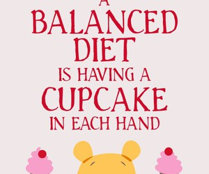 cupcake, winnie the pooh, and funny image