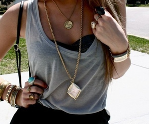 girl, jewellery, and necklace image
