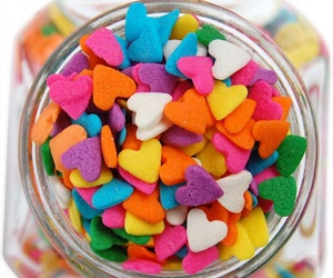 bright, heart, and sprinkles image