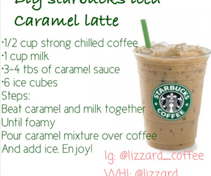 starbucks, caramel, and latte image