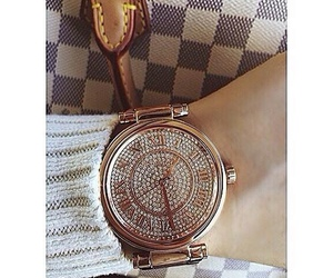 Louis Vuitton, gold watches, and rose gold watches image