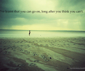 quote, beach, and words image