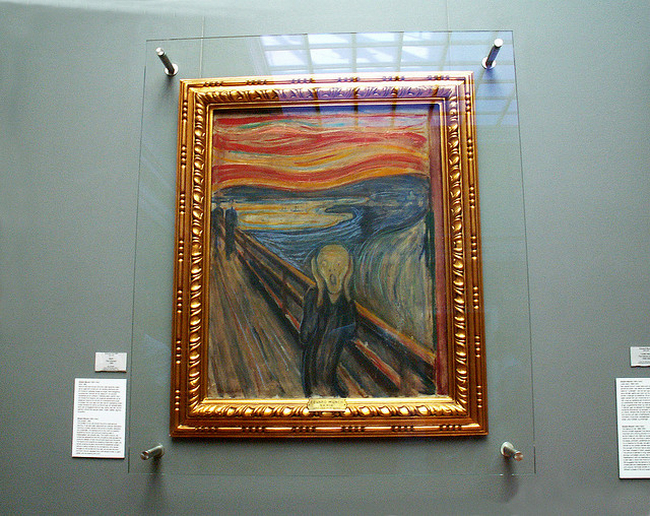 art, the scream, and grunge image