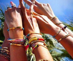 bracelet, coachella, and summer image